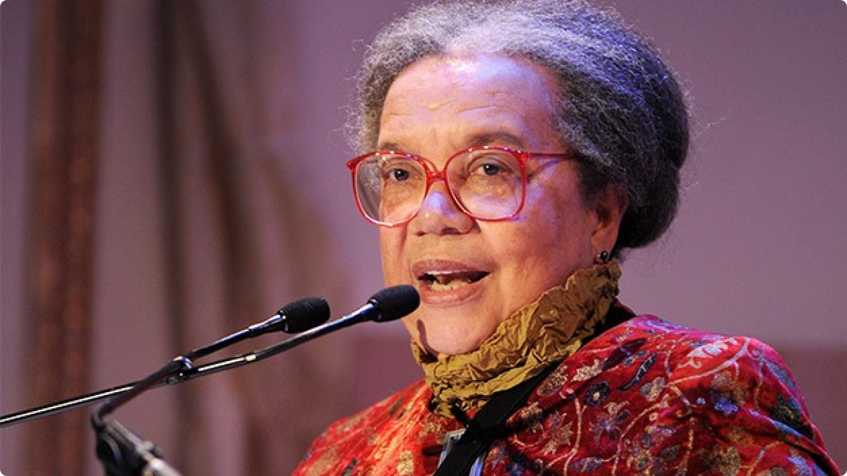 An advocate for disadvantaged Americans for her entire professional life, Marian Wright Edleman is best known for her legal advocacy for African-Americans in the 1960's. A graduate of Spelman College and Yale Law School, began her career in the mid-60s as the first Black woman admitted to the Mississippi Bar and director of the the NAACP Legal Defense and Educational Fund office in Jackson, Mississippi. In 1968. She then moved to Washington, D.C. as counsel for the Poor People's Campaign that Dr. Martin Luther King, Jr. began organizing before his death. She founded the Washington Research Project, a public interest law firm and the parent body of the Children's Defense Fund. For two years, she served as the Director of the Center for Law and Education at Harvard University and in 1973 began the Children's Defense Fund.