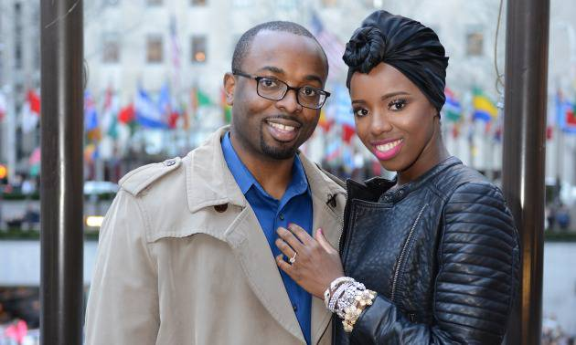 Joy and Obi Okere are the founders of Curlsistas, a New York City-based company that primarily sells natural hair extensions. Obi bought Joy her first natural hair product when she big chopped, and the confidence and empowerment she received following that experience is what motivated her to launch the company with him.