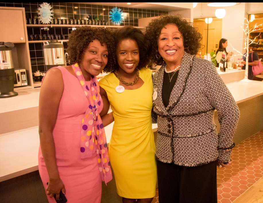MC Vannessa Wade (Connect the Dots PR), Ashley Small (Medley, Inc.), and Karen Eubanks Jackson (Sister's Network, Inc.)