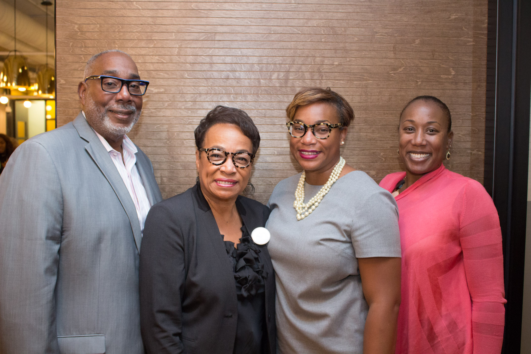 Honoree, Dr. Joyce Valeria Brown Founder, Joyce V. Brown Consulting Group, LLC, & guests enjoy the Chicago reception