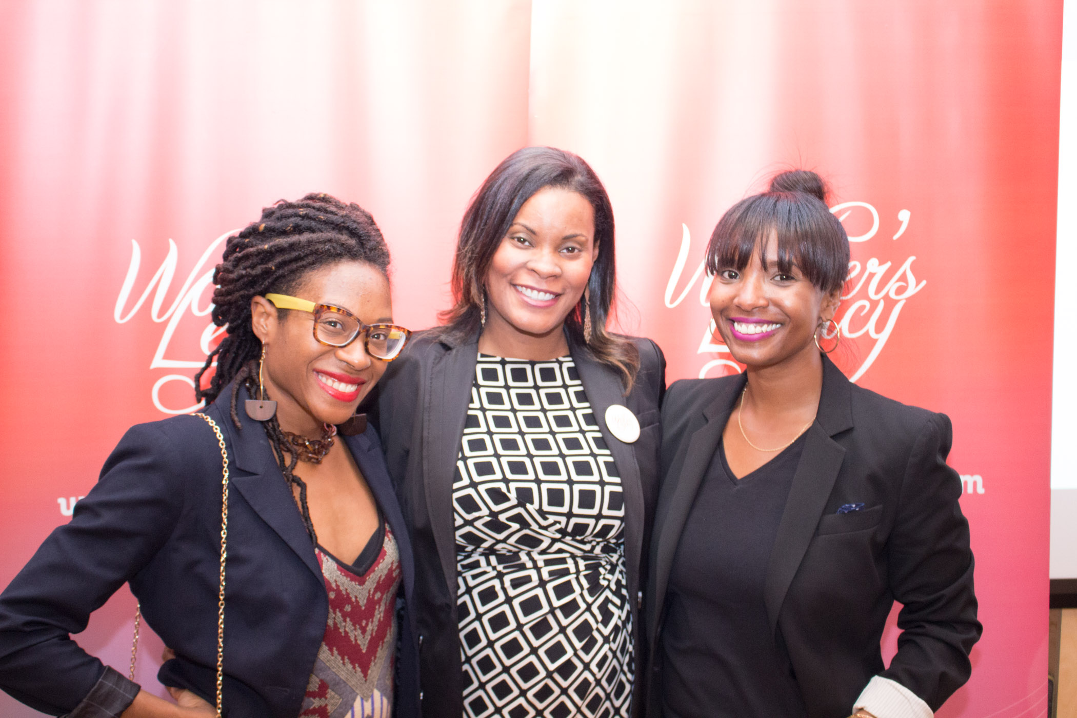 Honoree, Geneen Harston, Vice President of News, Rivet Radio, & guests enjoy the Chicago reception.